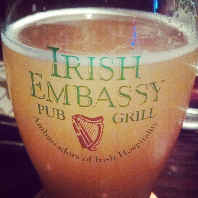 Today we're Irish! #montreal #canada #irishembassy #shocktop #beer #travel #ttot #irish #beer