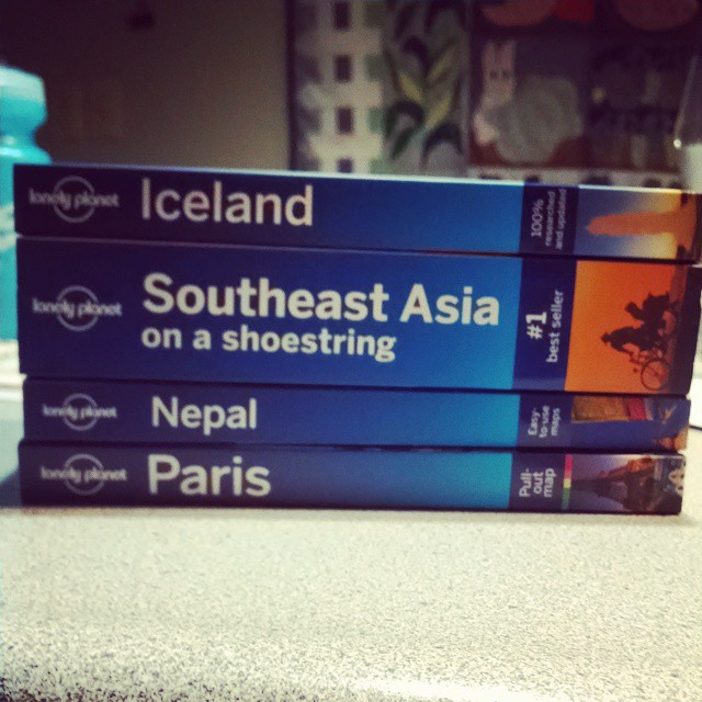 Time for some new adventures in 2015 and 2016 :-) #travel #traveller #world #adventure #wanderlust #neverstopexploring #lonelyplanet #lp #passport