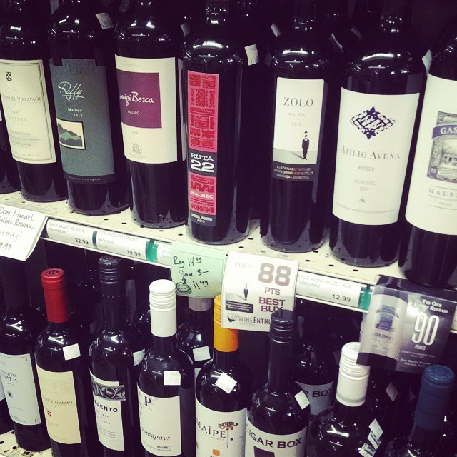 This must be what heaven looks like. How have I never been to Oak Hill Beverage!? #wine #redwine #malbec #argentina #chile